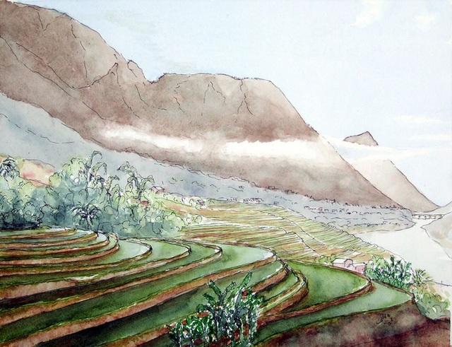 Bộ tranh đẹp quá Việt Nam ơi được vẽ bởi họa sĩ người Pháp, cộng đồng mạng quốc tế thích thú ngắm nhìn một nơi bình dị, an yên nhưng rất tươi đẹp - Ảnh 1.