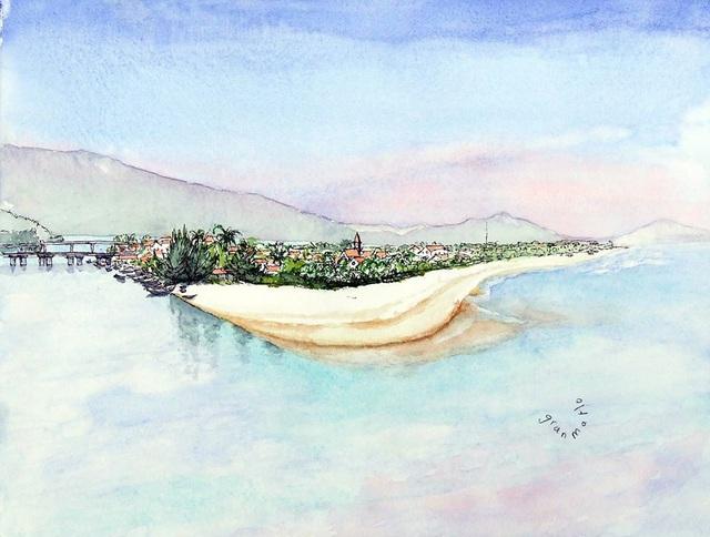 Bộ tranh đẹp quá Việt Nam ơi được vẽ bởi họa sĩ người Pháp, cộng đồng mạng quốc tế thích thú ngắm nhìn một nơi bình dị, an yên nhưng rất tươi đẹp - Ảnh 6.