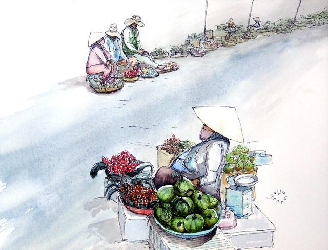Bộ tranh đẹp quá Việt Nam ơi được vẽ bởi họa sĩ người Pháp, cộng đồng mạng quốc tế thích thú ngắm nhìn một nơi bình dị, an yên nhưng rất tươi đẹp - Ảnh 7.