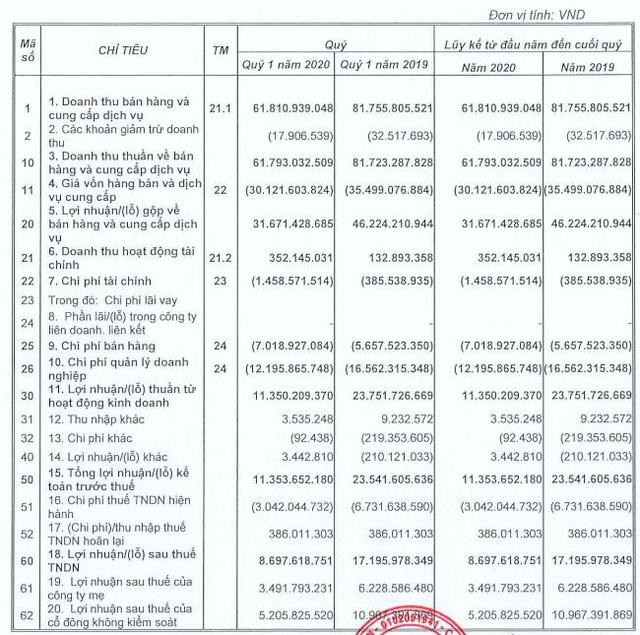 Ninh Vân Bay (NVT) báo lợi nhuận quý 1 giảm 1 nửa so với cùng kỳ - Ảnh 1.