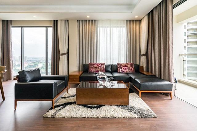 Căn hộ chung cư tông màu xám bền đẹp theo thời gian - Ảnh 4.