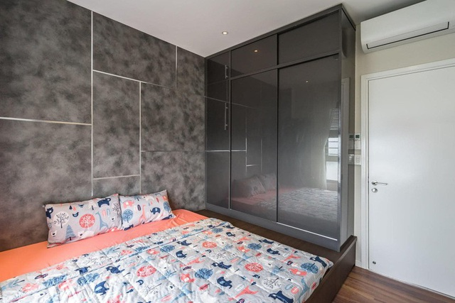 Căn hộ chung cư tông màu xám bền đẹp theo thời gian - Ảnh 7.