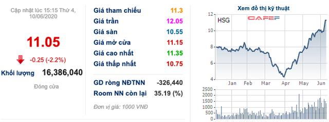 Hoa Sen (HSG): Thị giá liên tục phá đỉnh, Công ty riêng của Chủ tịch Lê Phước Vũ muốn bán tiếp 20 triệu cổ phần - Ảnh 1.