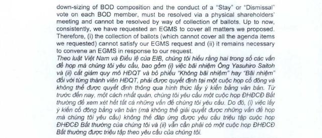 SMBC - cổ đông lớn của Eximbank đề nghị cắt giảm quy mô HĐQT, bỏ phiếu Không bãi nhiệm hay Bãi nhiệm với từng thành viên HĐQT tại cuộc họp bất thường - Ảnh 1.