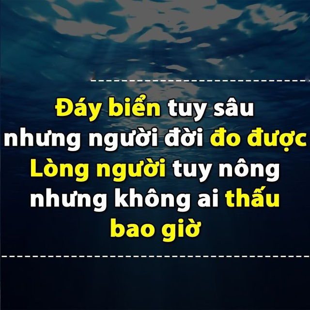Sâu tuy sâu nhưng vẫn thấy đáy, lòng người tuy nông mà khó lường: 9 điều đừng nói mới là người khôn ngoan - Ảnh 1.