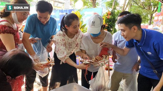 Chen chân mua hải sản giảm sốc 50%, tôm hùm 640.000 đồng/kg, ghẹ xanh 500.000 đồng/kg - Ảnh 2.