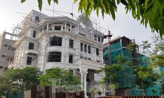 Nở rộ công trình cung điện, lâu đài tự hợp thửa đất liền kề ở Hà Nội - Ảnh 1.