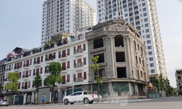 Nở rộ công trình cung điện, lâu đài tự hợp thửa đất liền kề ở Hà Nội - Ảnh 2.