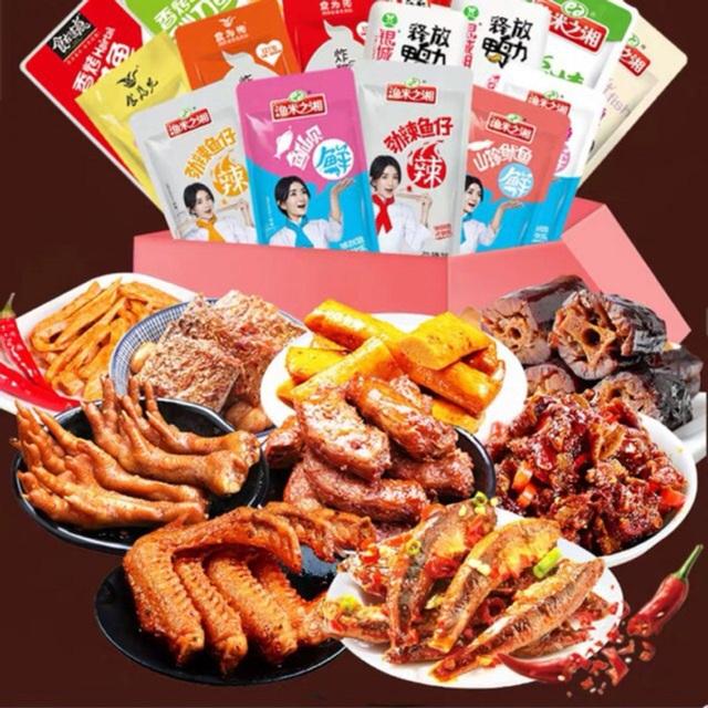 Rộ đồ ăn vặt nội địa Trung trên chợ mạng: Giá rẻ không thiếu thứ gì từ bánh kẹo, nước uống cho tới các loại thịt ăn liền - Ảnh 2.