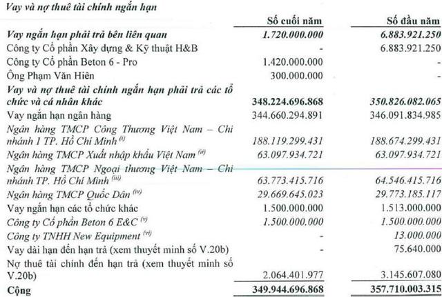 Beton 6 liên quan ông Trịnh Thanh Huy lãnh án phá sản: Vốn chủ 2019 âm hàng chục tỷ, kiểm toán từ chối đưa ra kết luận, tồn đọng hàng trăm tỷ nợ ngân hàng - Ảnh 2.
