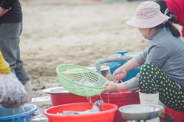 Chợ cá lúc bình minh bên đường Hoàng Sa - Ảnh 5.