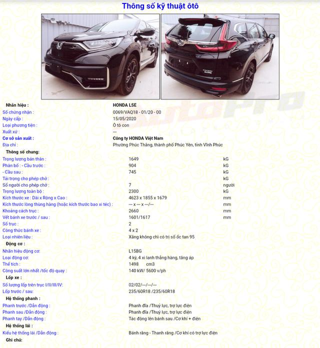 Lộ diện Honda CR-V 2020 lắp ráp tại Việt Nam: 4 phiên bản, thiết kế mới, sẵn sàng chờ giảm trước bạ - Ảnh 8.