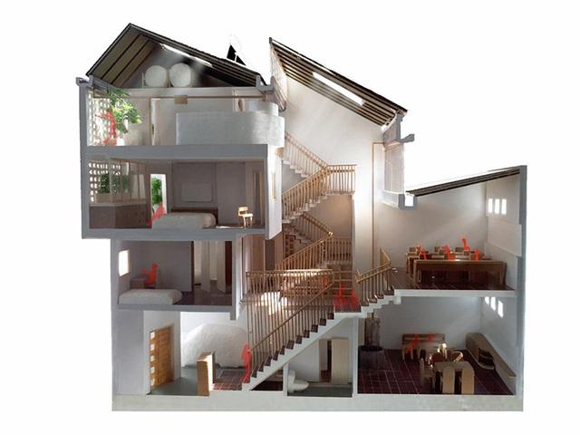 Ngôi nhà phố giản dị ở Hưng Yên sử dụng loạt giải pháp để trữ nước mưa - Ảnh 3.