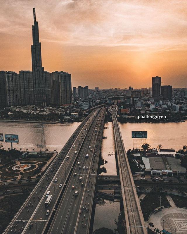 """Không tin vào mắt mình trước bộ ảnh chụp Sài Gòn từ trên cao đang """"gây bão"""" MXH: Xem hình, bạn đoán được đúng tên bao nhiêu địa điểm? - Ảnh 9."""