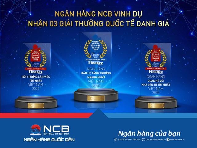 NCB giành 3 giải thưởng quốc tế từ Global Banking & Finance Review - Ảnh 1.