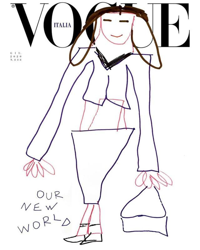 Nối gót Gucci, Vogue Ý cũng post ảnh bìa được vẽ nguệch ngoạc nhưng ý nghĩa đằng sau lại thật ấm lòng - Ảnh 4.