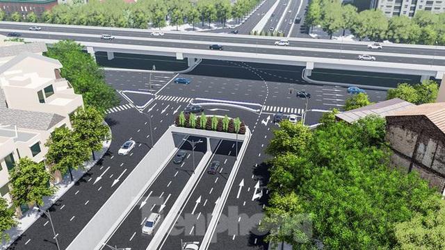 Hình ảnh thiết kế hầm chui Lê Văn Lương vượt ngầm Vành đai 3 - Ảnh 1.
