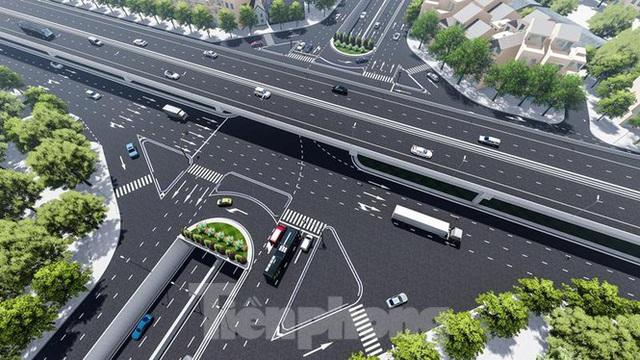 Hình ảnh thiết kế hầm chui Lê Văn Lương vượt ngầm Vành đai 3 - Ảnh 4.