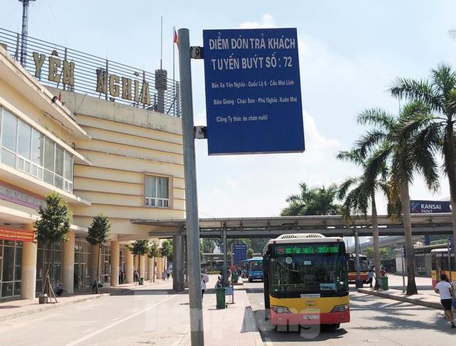 Cận cảnh tuyến xe buýt doanh nghiệp dọa dừng hoạt động ở Hà Nội - Ảnh 6.
