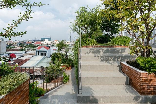 Nhờ có sân thượng trồng cây mà nhà phố xanh y như nhà vườn - Ảnh 9.