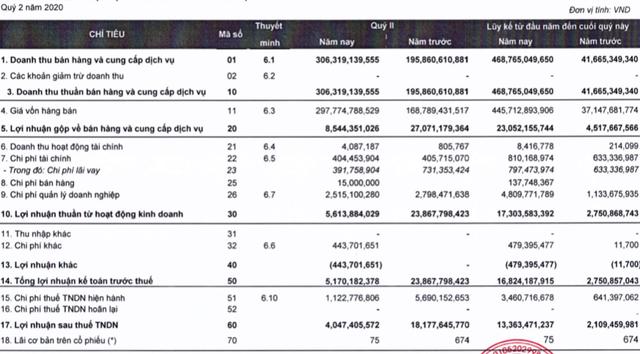 Thaiholdings (THD): Cổ phiếu tăng nóng trước thềm tăng vốn, lợi nhuận quý 2/2020 lại sụt giảm 78% xuống còn 4 tỷ đồng - Ảnh 1.