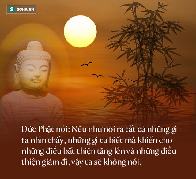 Đức Phật dạy: Có 1 kiểu lời không nên nói và 1 kiểu lời nên nói ra, làm được con người sẽ tích thêm phúc đức cho bản thân - Ảnh 1.