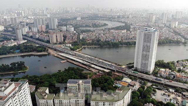Cận cảnh cầu vượt hồ 314 tỷ đồng sắp hoàn thành ở Hà Nội - Ảnh 13.