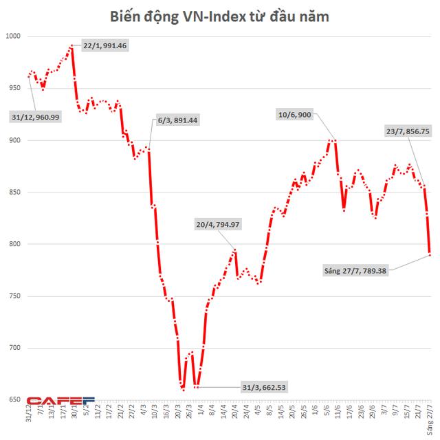 Nhà đầu tư cắt lỗ ồ ạt, VN-Index giảm gần 40 điểm - Ảnh 1.