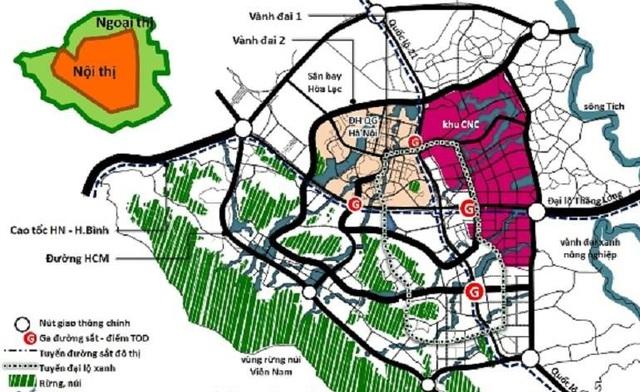 """Soi quy hoạch hệ thống giao thông """"khủng"""" tại đô thị vệ tinh lớn nhất Thủ đô - Ảnh 1."""