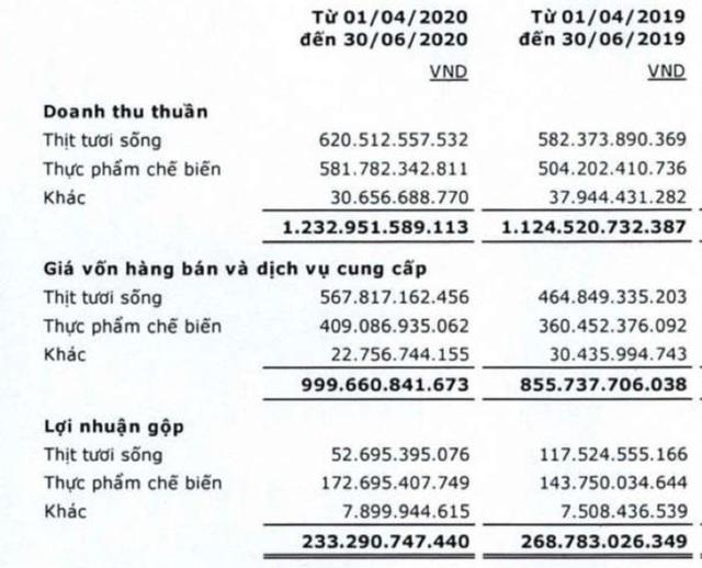 Lợi nhuận mảng thịt tươi sống sụt giảm mạnh, lãi quý 2 của Vissan chỉ bằng 2/3 cùng kỳ - Ảnh 1.