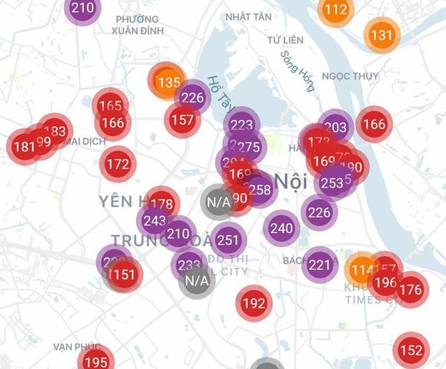 Hà Nội lại ô nhiễm không khí rất nghiêm trọng - Ảnh 1.