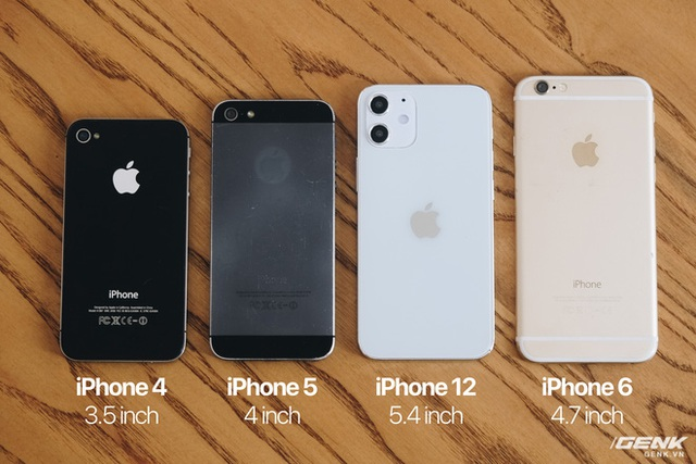 So sánh iPhone 12 5.4 inch với iPhone 4, iPhone 5 và iPhone 6: Chiếc iPhone nhỏ gọn đáng để chờ đợi - Ảnh 2.