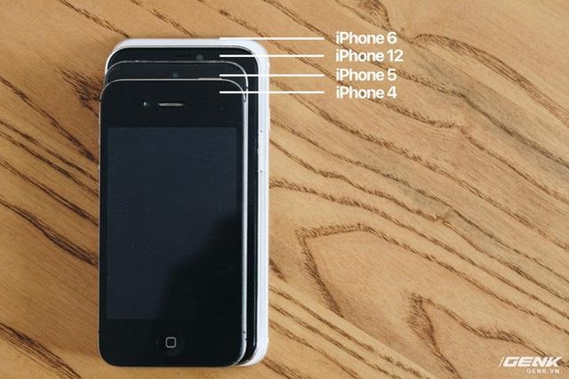 So sánh iPhone 12 5.4 inch với iPhone 4, iPhone 5 và iPhone 6: Chiếc iPhone nhỏ gọn đáng để chờ đợi - Ảnh 3.