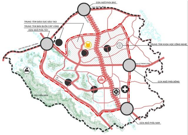 Siêu đô thị vệ tinh Hòa Lạc hơn 17.000ha có những gì? - Ảnh 1.