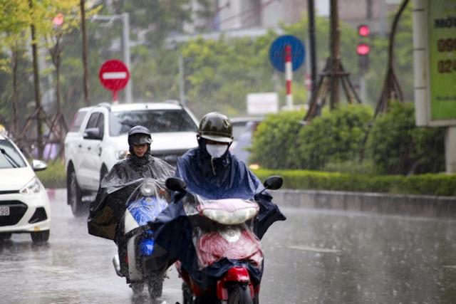 Video: Hà Nội đón cơn mưa vàng ngắn ngủi giải nhiệt sau nhiều ngày nắng nóng - Ảnh 1.
