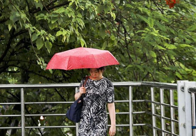 Video: Hà Nội đón cơn mưa vàng ngắn ngủi giải nhiệt sau nhiều ngày nắng nóng - Ảnh 6.