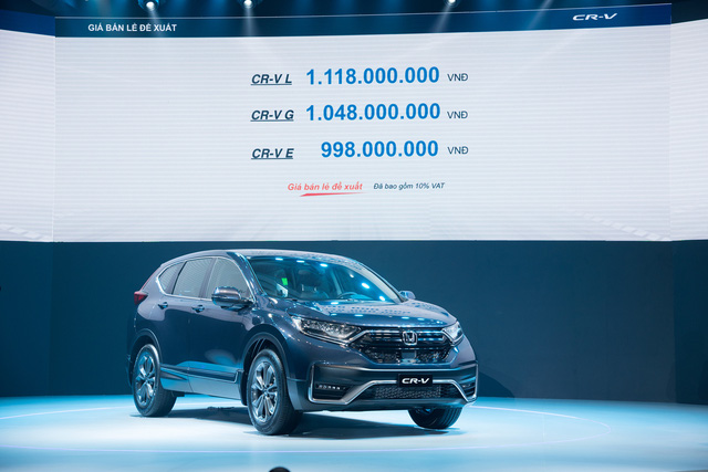 Honda CR-V chính thức ra mắt thị trường Việt Nam, giá từ 998 triệu đồng - Ảnh 1.