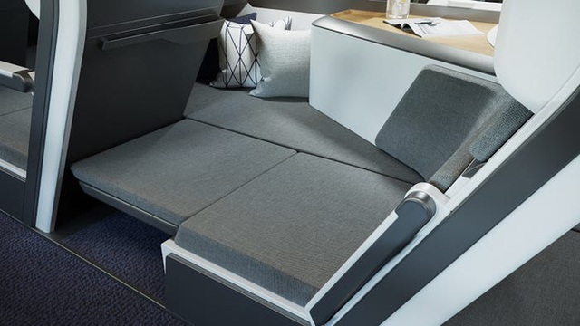 Cận cảnh khoang máy bay hạng phổ thông trong tương lai: Du khách có thể thoải mái nằm dài với thiết kế ghế ngồi hoàn toàn mới - Ảnh 7.