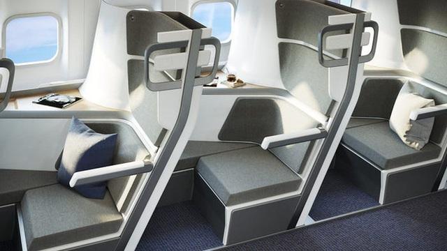 Cận cảnh khoang máy bay hạng phổ thông trong tương lai: Du khách có thể thoải mái nằm dài với thiết kế ghế ngồi hoàn toàn mới - Ảnh 6.