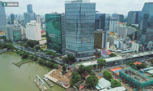 Cầu Thủ Thiêm 2 vươn mình ra sông Sài Gòn, lộ hình dáng khi nhìn từ trên cao - Ảnh 10.