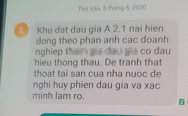 Đà Nẵng ngừng đấu giá đất hơn 300 tỷ vì tin nhắn tố thông thầu - Ảnh 1.
