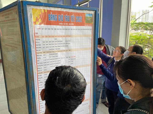 Ngày đầu bán vé Tết Tân Sửu 2021: Ga Sài Gòn vắng khách vì hàng chục nghìn người đã mua vé qua mạng - Ảnh 7.