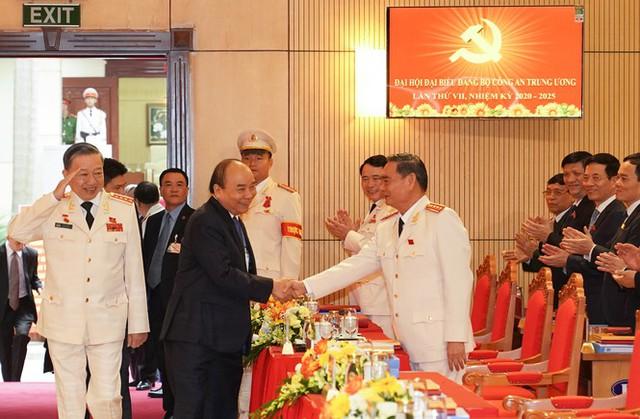 Hình ảnh Thủ tướng Nguyễn Xuân Phúc dự Đại hội Đảng bộ Công an Trung ương - Ảnh 1.