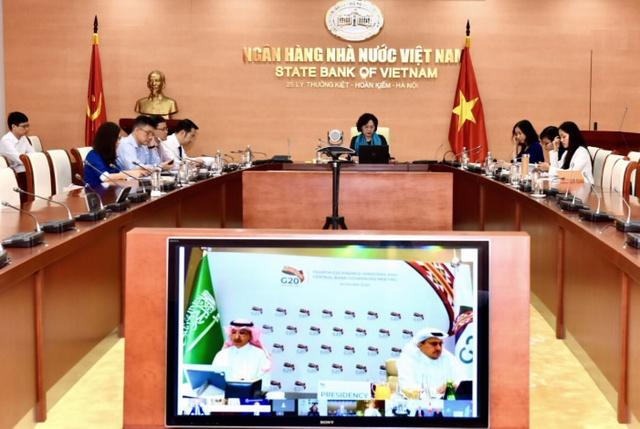Phó Thống đốc Nguyễn Thị Hồng tham dự và phát biểu tại Hội nghị Bộ trưởng Tài chính và Thống đốc Ngân hàng Trung ương G20 - Ảnh 1.