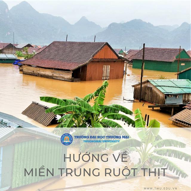 Trường Đại học Thương Mại hỗ trợ 10 triệu đồng cho mỗi sinh viên quê vùng lũ lụt - Ảnh 1.