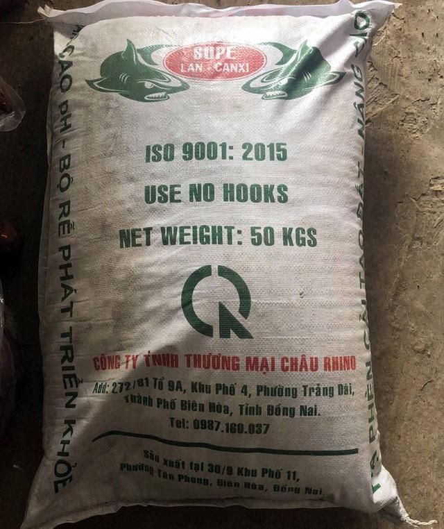 Phát hiện 40 tấn phân bón giả sản xuất bằng đất, bột đá - Ảnh 3.