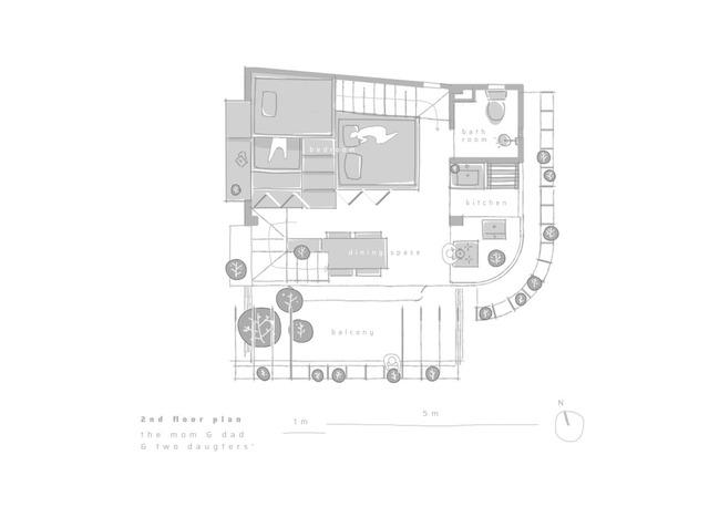Công trình vừa là nhà cho 7 người ở, vừa là quán cà phê trên mảnh đất 35 m2 ở Huế - Ảnh 10.