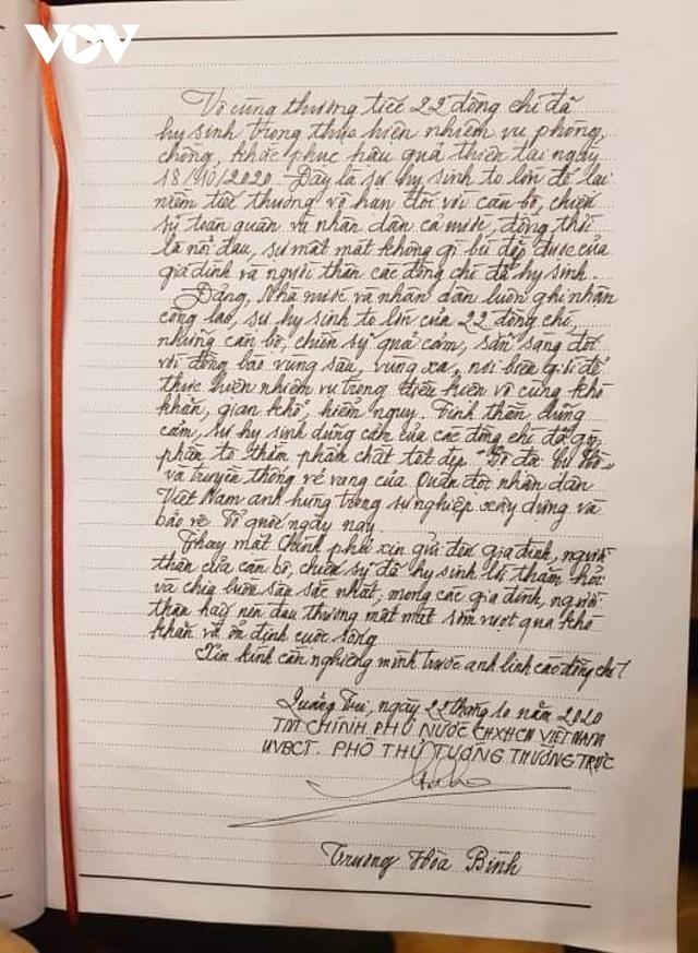 Lễ viếng và truy điệu 22 liệt sĩ Đoàn KTQP 337 hy sinh khi đang làm nhiệm vụ - Ảnh 6.