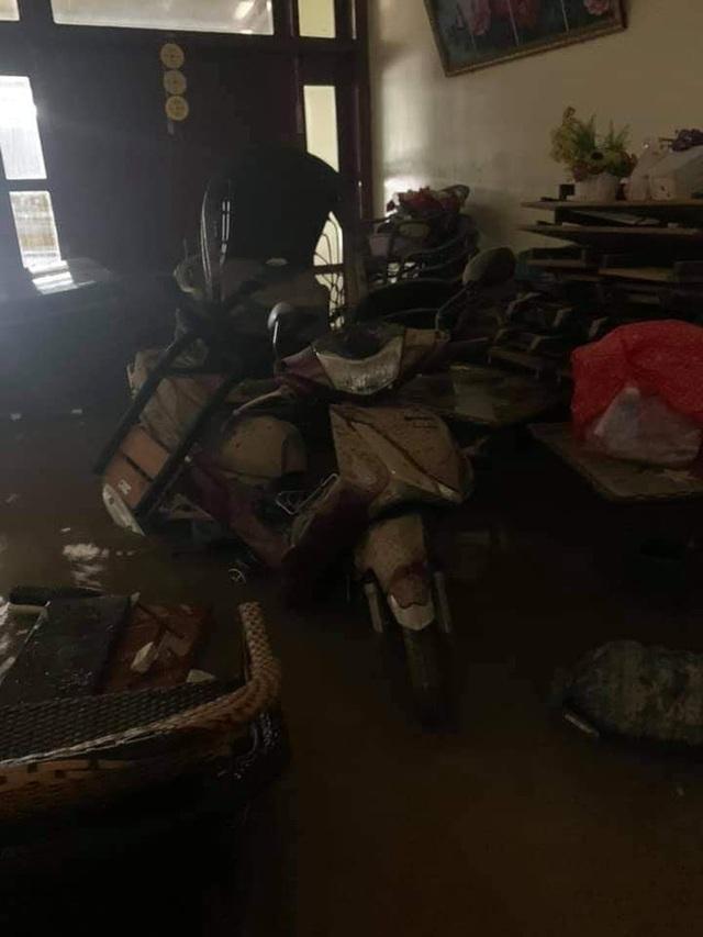 Khung cảnh nhà cửa tan hoang sau trận đại hồng thuỷ ở Quảng Bình: Tài sản bị ngâm nước nhầy nhụa bùn đất, thóc mọc mầm, vật nuôi chết hàng loạt - Ảnh 5.