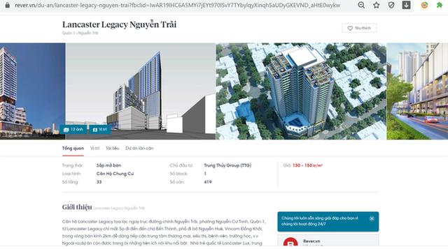 Môi giới bán lụi dự án căn hộ cao cấp Lancaster Legacy trên khu đất công - Ảnh 1.